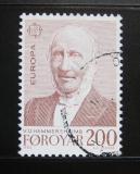 Poštovní známka Faerské ostrovy 1980 V. U. Hammershaimb Mi# 54