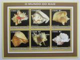 Poštovní známky Mosambik 2002 Lastury, škeble neperf. Mi# 2584-89 B
