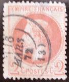 Poštovní známka Francie 1862 Císař Napoleon Mi# 25 Kat 26€