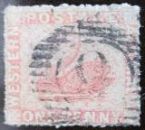Poštovní známka Západní Austrálie 1861 Labuť Mi# 9 C Kat 60€