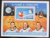 Poštovní známka Svatý Tomáš 1980 Let na Měsíc Mi# Block 45 Kat 15€