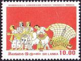 Poštovní známka Srí Lanka 1986 Freska Mi# 744