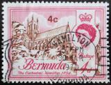 Poštovní známka Bermudy 1970 Katedrála, přetisk Mi# 230