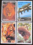 Poštovní známky Svatý Tomáš 1996 Greenpeace, fauna Mi# 1676-79