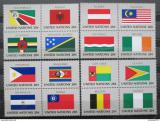 Poštovní známky OSN New York 1982 Vlajky čtyřbloky Mi# 397-412