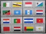 Poštovní známky OSN New York 1989 Vlajky čtyřbloky Mi# 579-94