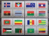 Poštovní známky OSN New York 1986 Vlajky čtyřbloky Mi# 499-514