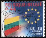 Poštovní známka Belgie 2004 Vlajka Litvy Mi# 3346