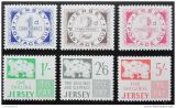 Poštovní známky Jersey 1969 Výplatní Mi# 1-6 Kat 60€