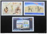 Poštovní známky Jersey 1986 Halleyova kometa Mi# 374-76
