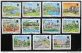 Poštovní známky Jersey 1990 Pohledy z Jersey Mi# 501-07,512-15 Kat 15€