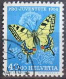 Poštovní známka Švýcarsko 1954 Motýl Mi# 606 Kat 9€