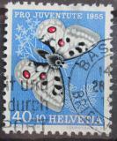 Poštovní známka Švýcarsko 1955 Motýl Mi# 622 Kat 7€