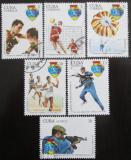 Poštovní známky Kuba 1977 Vojenská spartakiáda Mi# 2241-46