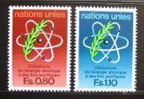 Poštovní známky OSN Ženeva 1977 Atomová energie Mi# 70-71