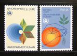 Poštovní známky OSN Ženeva 1982 Životní prostředí Mi# 105-06