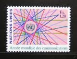Poštovní známka OSN Ženeva 1983 Světový rok komunikace Mi# 111
