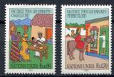 Poštovní známky OSN Ženeva 1987 Očkování Mi# 160-61
