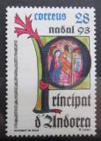 Poštovní známka Andorra Šp. 1993 Umění, vánoce Mi# 235
