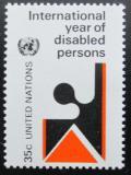 Poštovní známka OSN New York 1981 Rok postižených Mi# 368