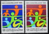 Poštovní známky OSN Vídeň 1984 Mezinárodní rok mládeže Mi# 45-46