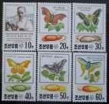 Poštovní známky KLDR 1991 Motýli SC# 2990-95