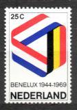 Poštovní známka Nizozemí 1969 BENELUX, 25. výročí Mi# 926