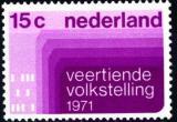 Poštovní známka Nizozemí 1971 Sčítání lidu Mi# 957