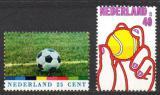 Poštovní známky Nizozemí 1974 Tenis a fotbal Mi# 1030-31