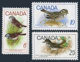 Poštovní známky Kanada 1969 Ptáci Mi# 438-40