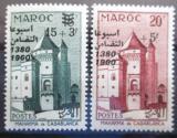 Poštovní známky Maroko 1960 Architektura přetisk Mi# 4560-61
