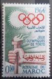 Poštovní známka Maroko 1964 LOH Tokio Mi# 540