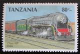 Poštovní známka Tanzánie 1989 Parní lokomotiva Mi# 577