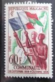 Poštovní známka Madagaskar 1959 Vyhlášení nezávislosti Mi# 444