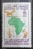 Poštovní známka Maroko 1960 Mapa Afriky Mi# 445