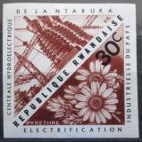 Poštovní známka Rwanda 1967 Vodní elektrárna neperf. Mi# 210 B