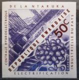 Poštovní známka Rwanda 1967 Vodní elektrárna neperf. Mi# 211 B