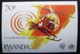Poštovní známka Rwanda 1981 Helikoptéra neperf. Mi# 1133 B