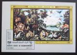 Poštovní známka Aden 1967 Umění neperf. Mi# Block 20 Kat 65€