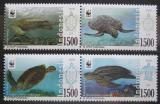 Poštovní známky Indonésie 2010 Mořské želvy, WWF Mi# 2849-52