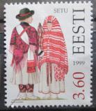 Poštovní známka Estonsko 1999 Lidové kroje Mi# 354