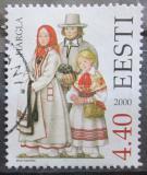 Poštovní známka Estonsko 2000 Lidové kroje Mi# 378