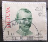Poštovní známka Litva 2001 Pranas Vaičaitis, básník Mi# 754
