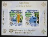 Poštovní známky Pobřeží Slonoviny 2005 Evropa CEPT, 50. výročí, neperf. Mi# Block 169 B Kat 16€