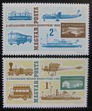 Poštovní známky Maďarsko 1966 Muzeum dopravy Mi# 2220-21