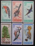 Poštovní známky Maďarsko 1966 Ochrana ptáků Mi# 2231-36