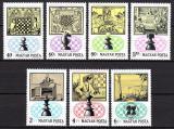 Poštovní známky Maďarsko 1974 Šachy Mi# 2957-63
