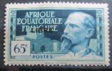 Poštovní známka Francouzská Rovníková Afrika 1940 Emile Gentil přetisk Mi# 120