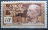 Poštovní známka Francouzská Rovníková Afrika 1940 Emile Gentil přetisk Mi# 123