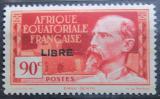 Poštovní známka Francouzská Rovníková Afrika 1940 Emile Gentil přetisk Mi# 124